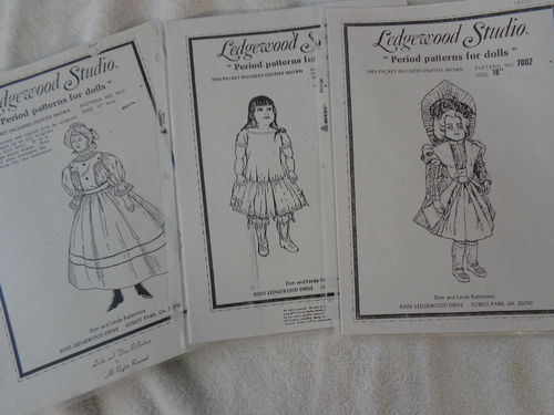 3 patterns from legdewood studio for antiques - english