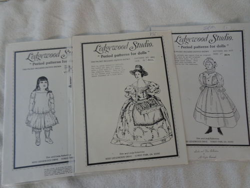 6 patterns from ledgewood studio for antiques - unused