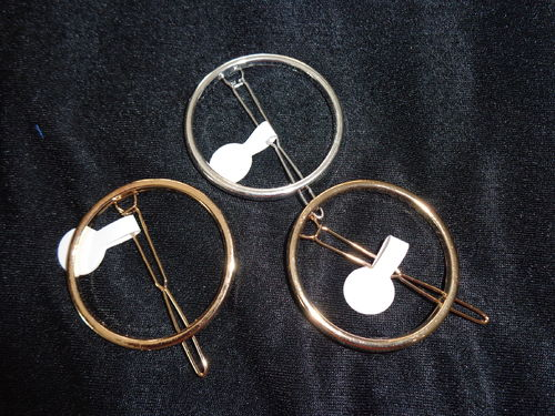 "hair pin 2 1/2"" gold or silver"