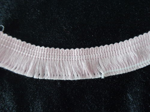 cotton fringe, rose, 6/8""
