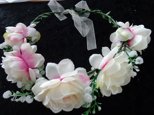 large hairband with flowers